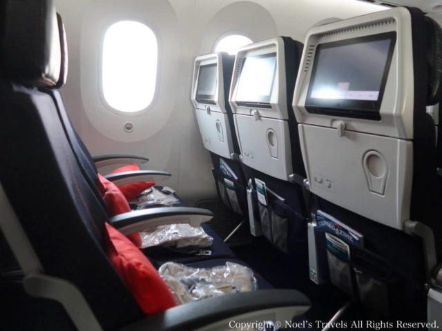 エールフランス航空の機内