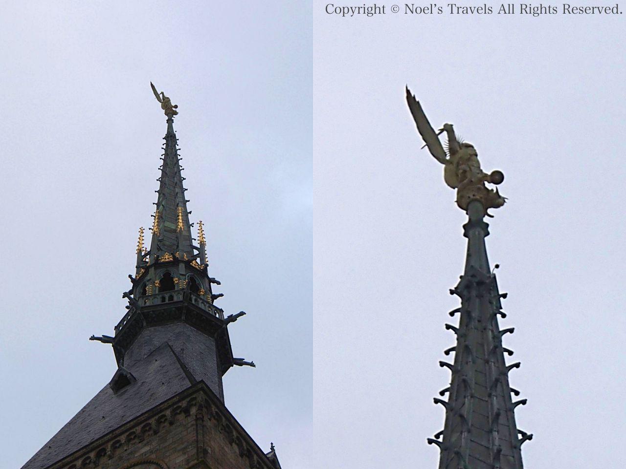 モンサンミッシェルの大天使ミカエル像