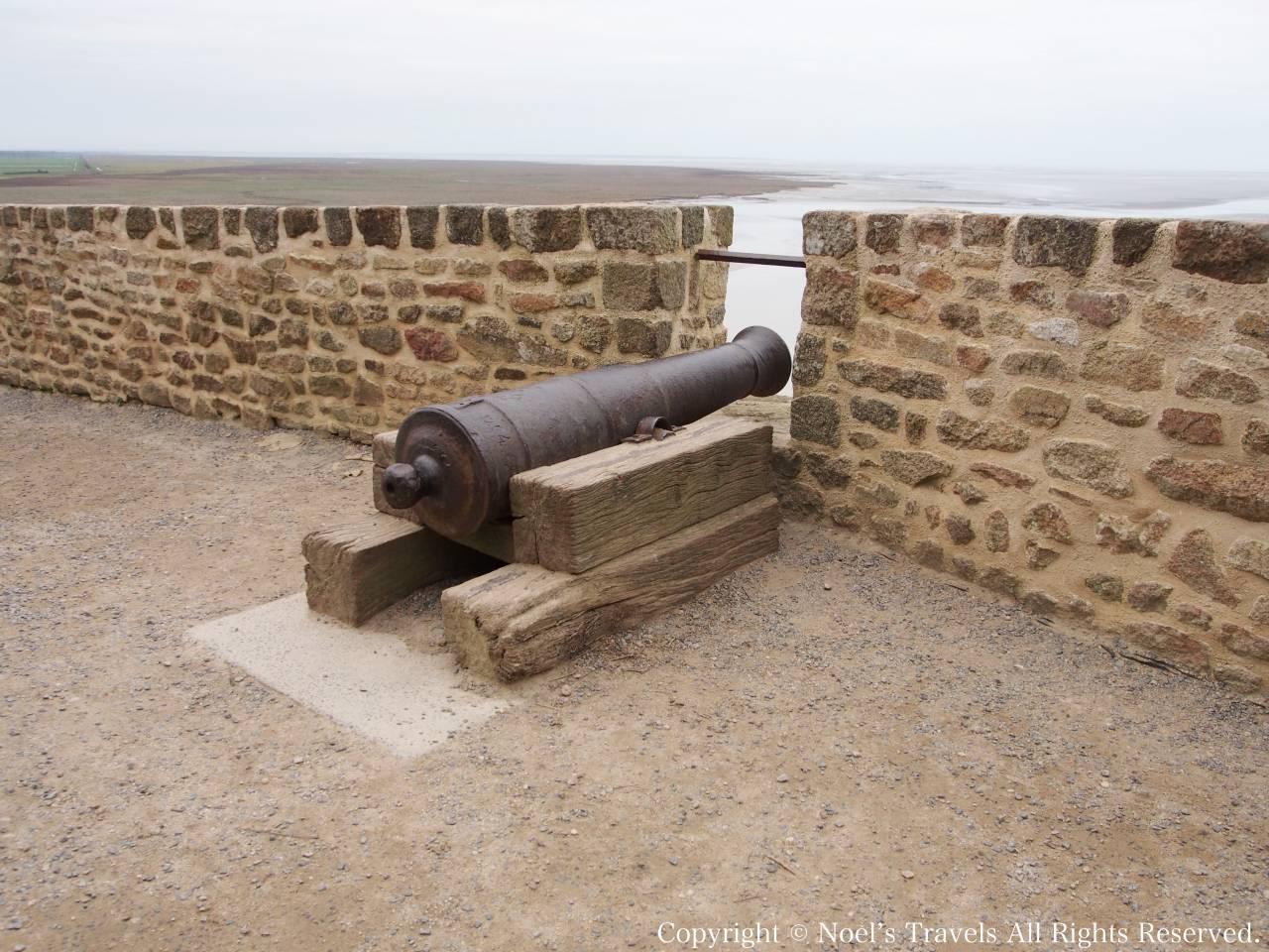 モンサンミッシェルの砲台