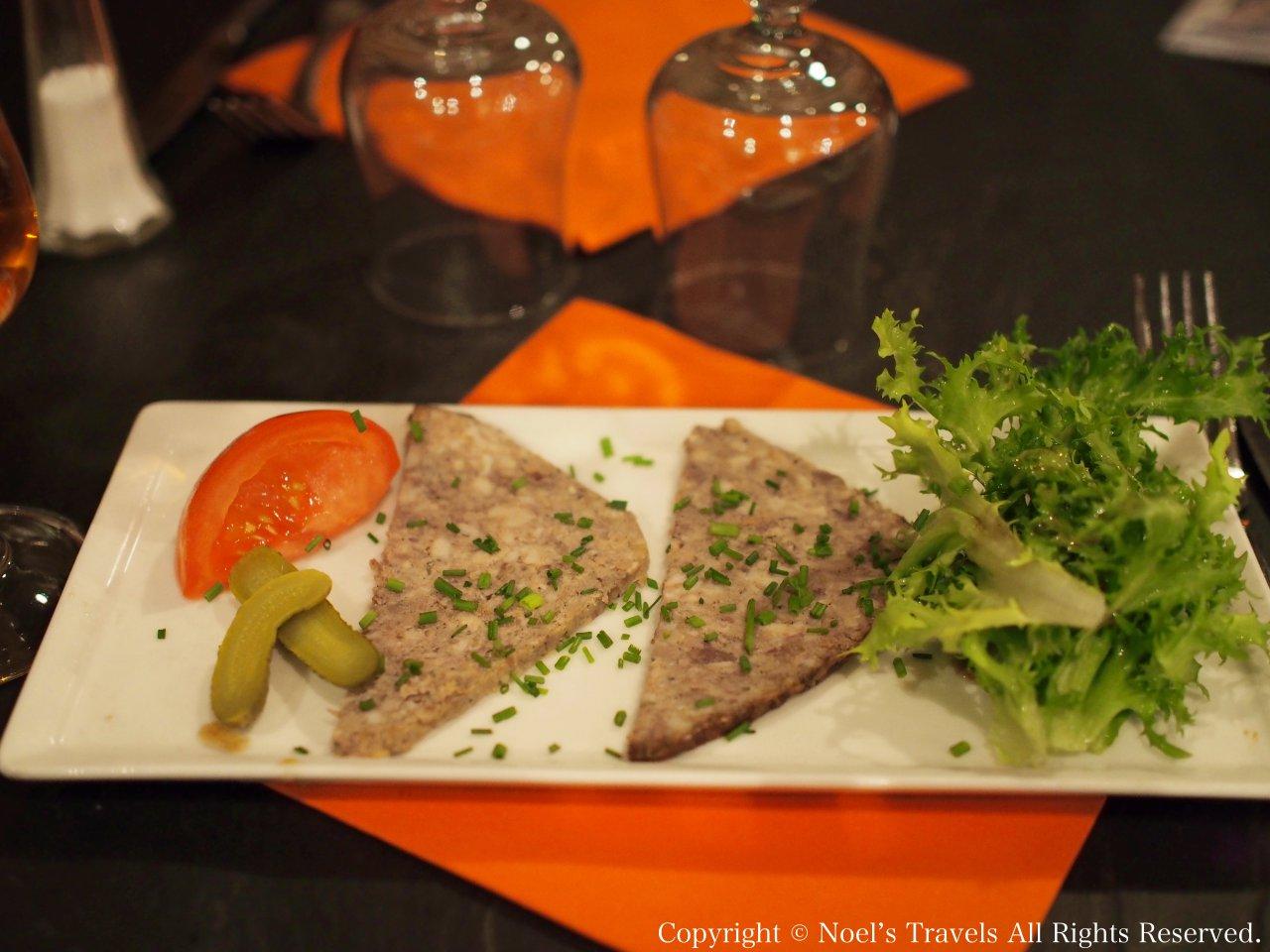 モンサンミッシェルのレストラン「ラ・コンフィアンス」の料理