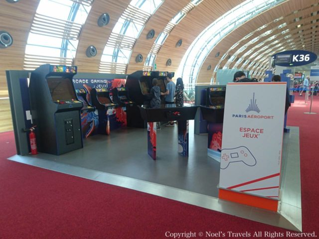 パリのシャルル・ド・ゴール空港のゲームコーナー