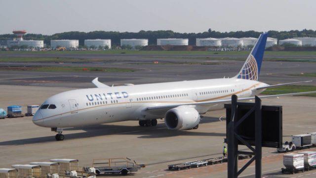 ユナイテッド航空の機体