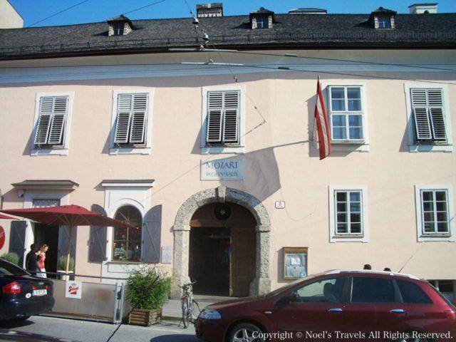 ザルツブルクにあるモーツァルトの家