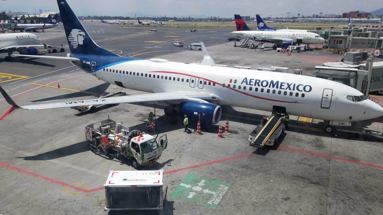 アエロメヒコ航空の機体