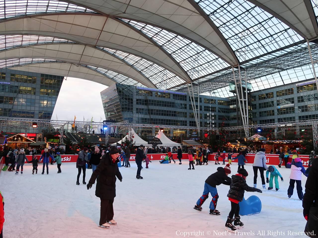 ミュンヘン空港のスケートリンク