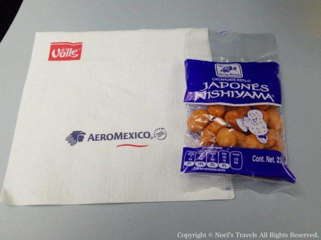 アエロメヒコ航空のお菓子