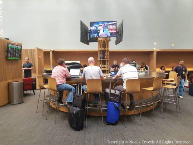 メキシコシティ空港のアエロメヒコラウンジ