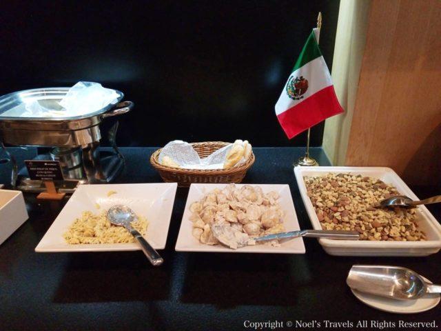 メキシコシティ空港ラウンジの食事