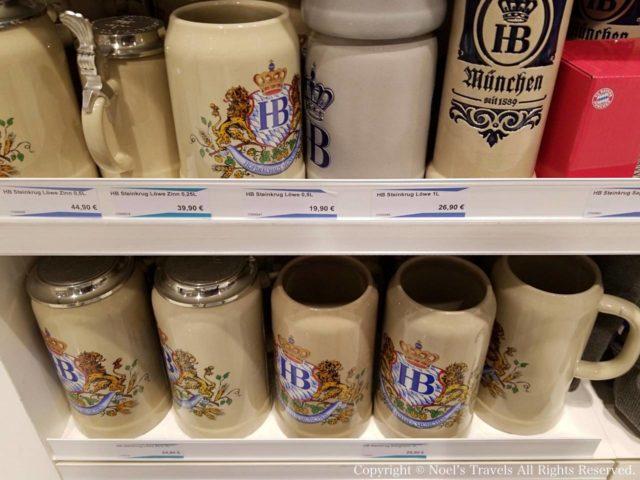 ホフブロイハウスのビールジョッキ