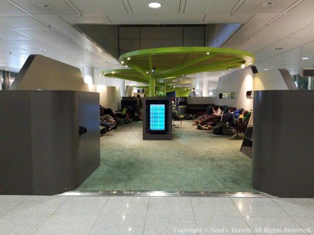 ミュンヘン空港の休憩所