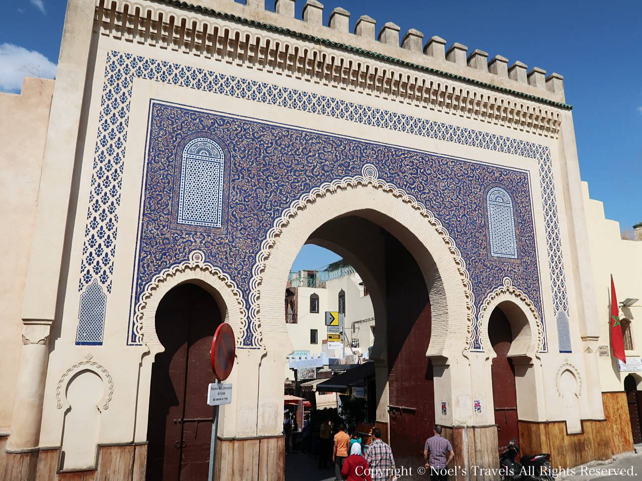 フェズの旧市街のブージュルード門