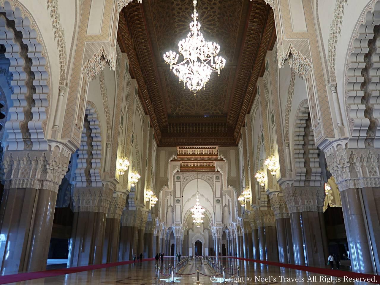 ハッサン2世モスクの内部