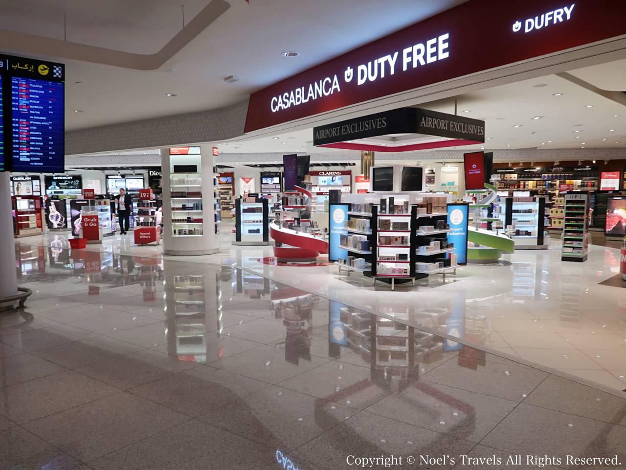 カサブランカ空港の免税店