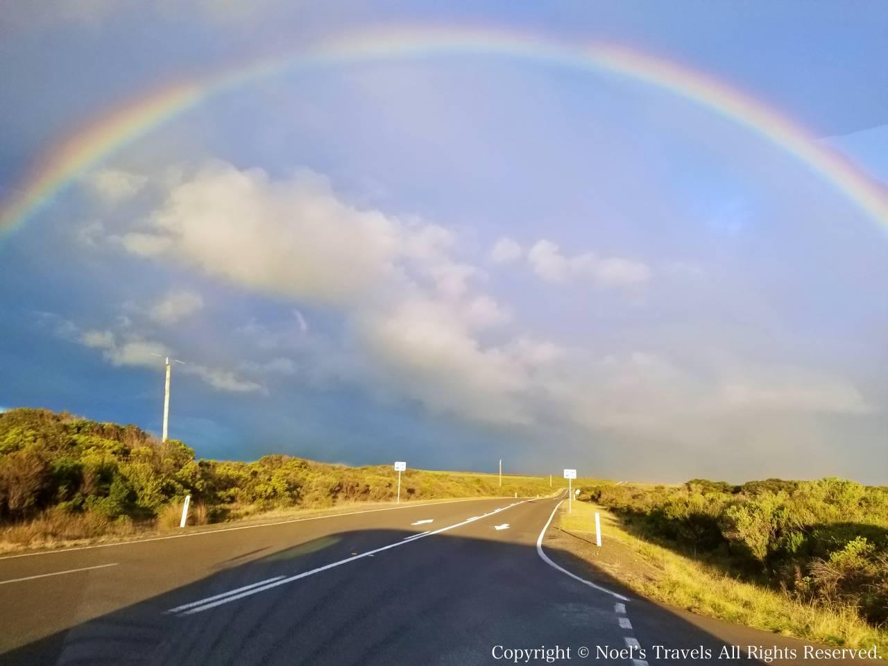 グレートオーシャンロードの虹
