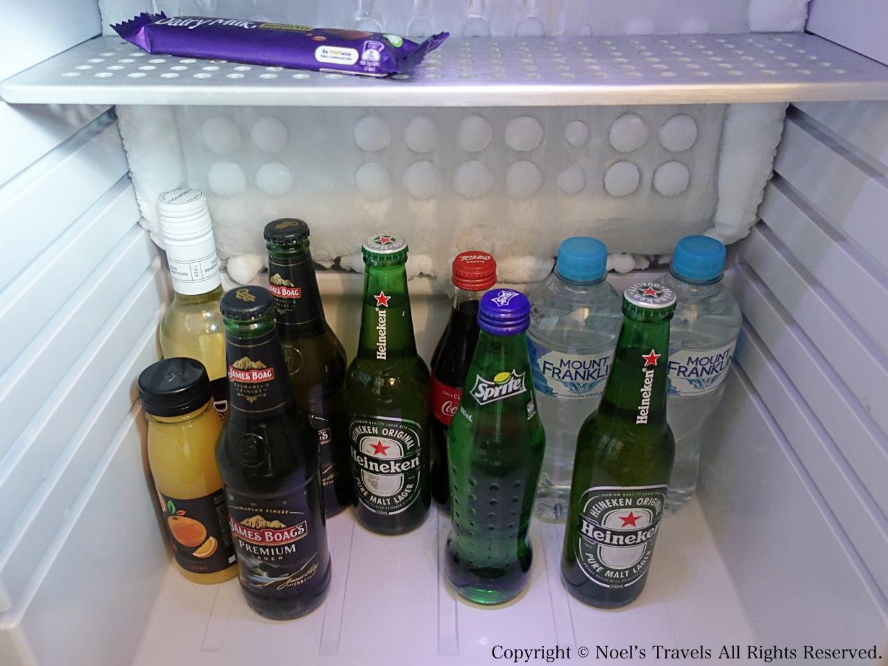 ノボテル・メルボルン・オン・コリンズの冷蔵庫