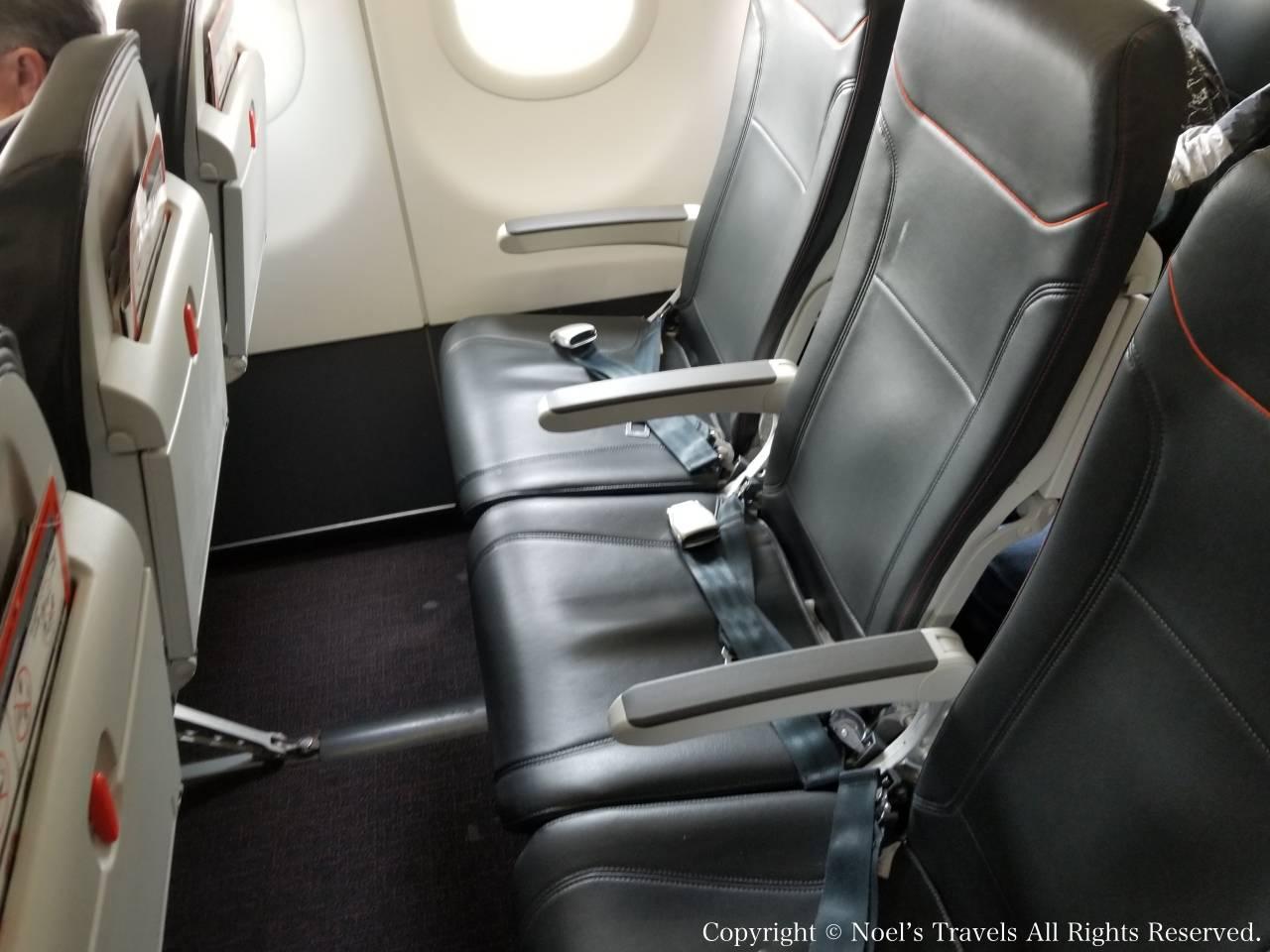 ジェットスター航空の座席