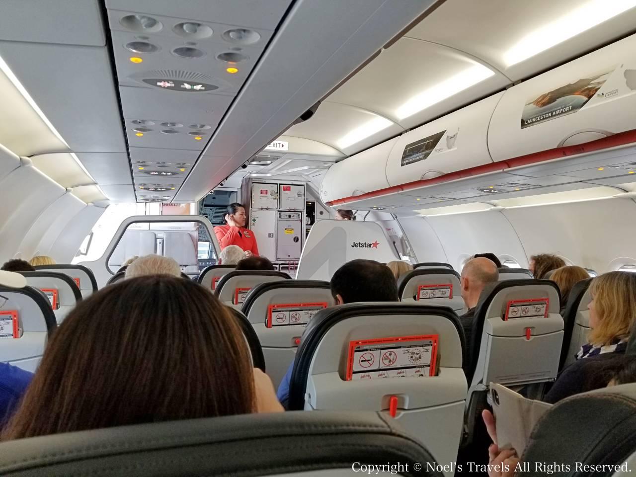 ジェットスター航空の機内