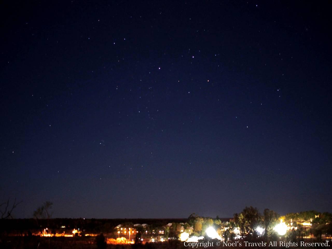 エアーズロックリゾートの星空