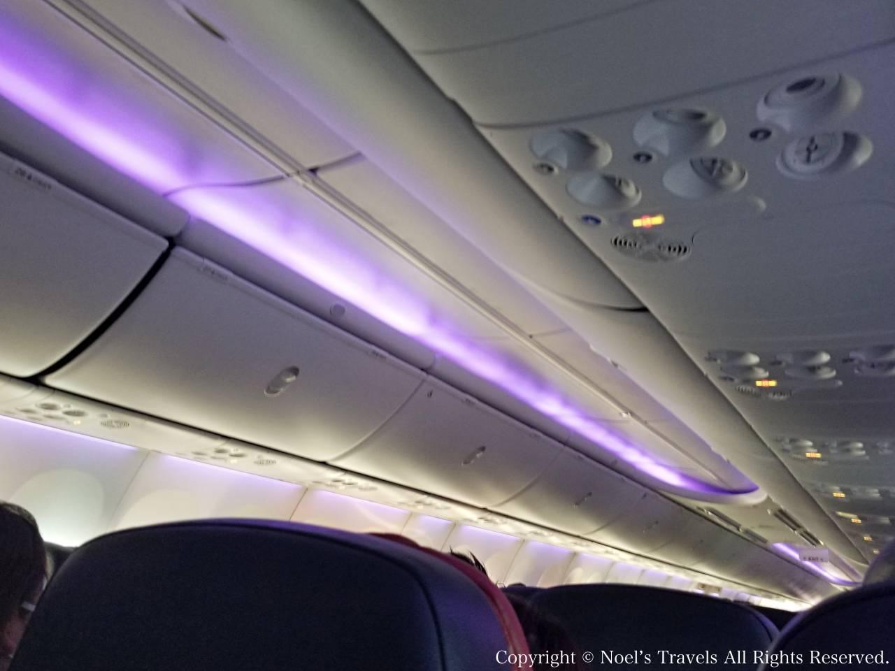 ヴァージンオーストラリアの機内
