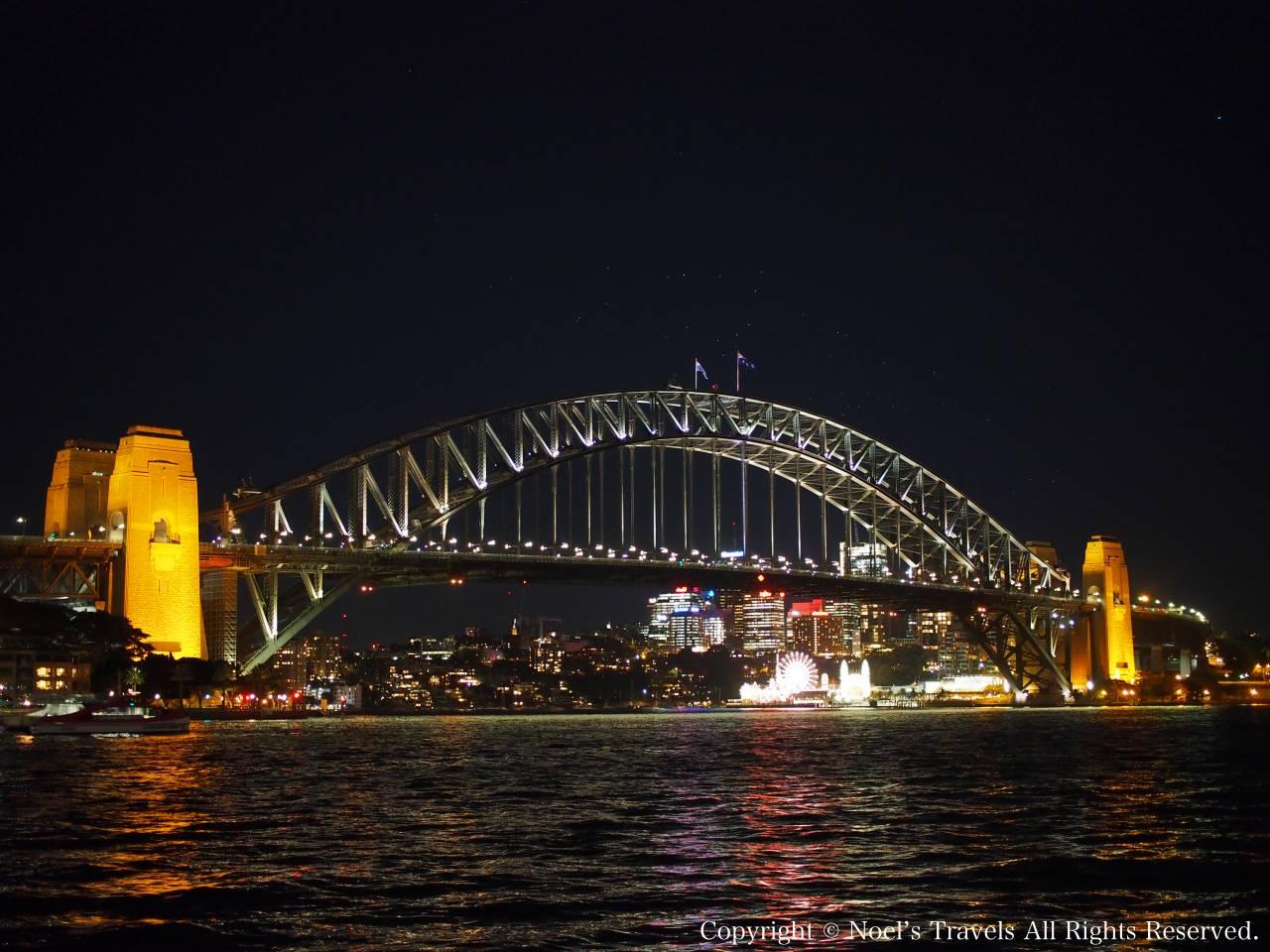 シドニー・ハーバーブリッジの夜景